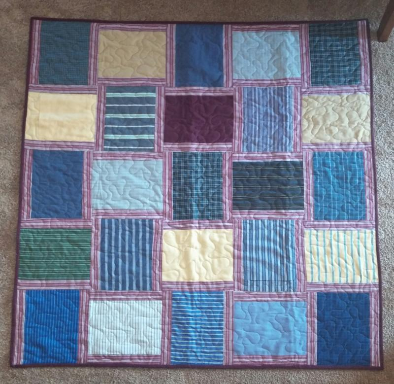 Custom Memory Quilts Memory Quilts From Clothing Mesmerizing How To Make A Quilted Throw Blanket