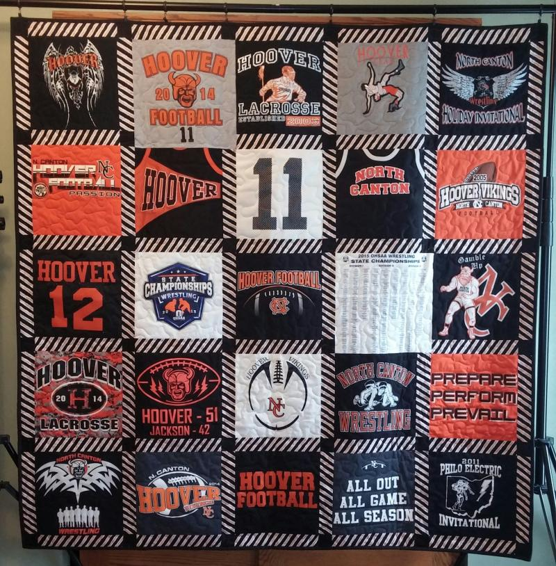 Custom Memory Quilts - T-Shirt Quilts : quilts made from sports jerseys - Adamdwight.com