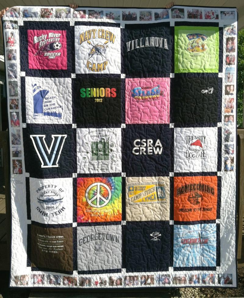 Custom Memory Quilts - T-Shirt Quilts : making a t shirt quilt - Adamdwight.com
